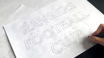 Craig Black Font Design | Rangers F.C. Brand Evolution | See Saw Creative Design Agency | Graphic + Digital Design