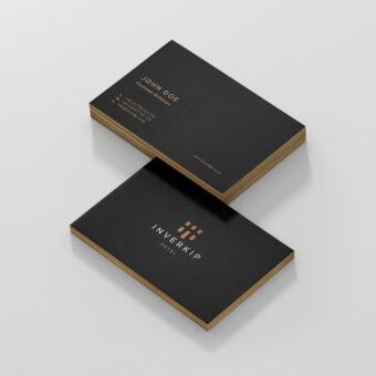 Business Card Design | Design for Print | Inverkip Hotel Branding + Logo Design | eCommerce Website Design + Development | See Saw Creative | Design + Digital Marketing Agency