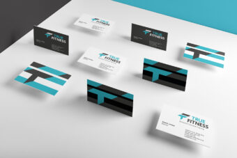 True Fitness Branding + Logo Design | Design for Print Business Cards | Website Design + Development | See Saw Creative Design + Marketing Agency